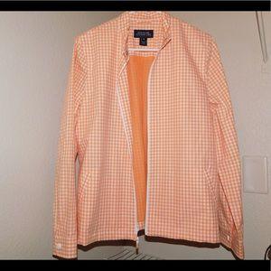 Checkered plaid coat size medium